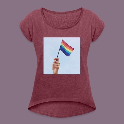 lgbt - Women's Roll Cuff T-Shirt