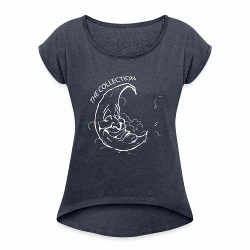 moon1 - Women's Roll Cuff T-Shirt