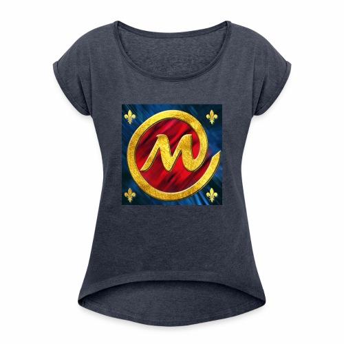 logo champion mm cl - Women's Roll Cuff T-Shirt