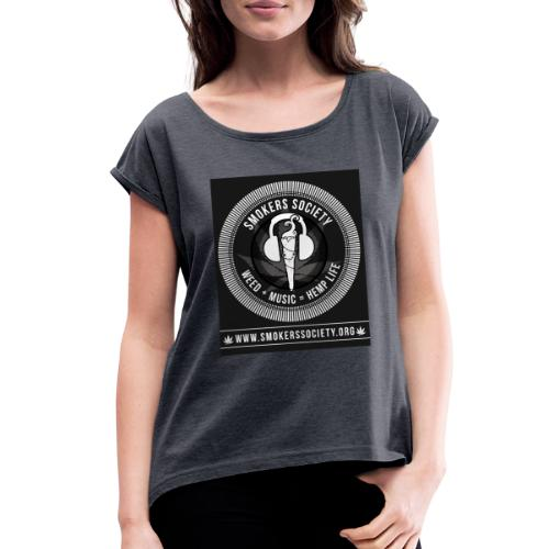 Smokers Society - Women's Roll Cuff T-Shirt