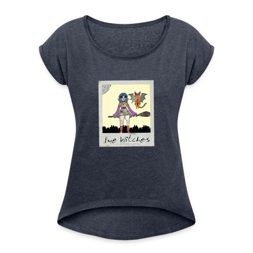 BYE WITCHES! Polariod - Women's Roll Cuff T-Shirt