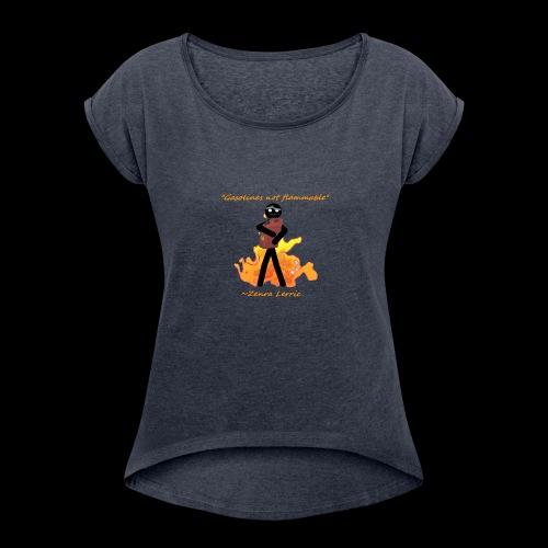 Stupid Zenra Quote - Women's Roll Cuff T-Shirt