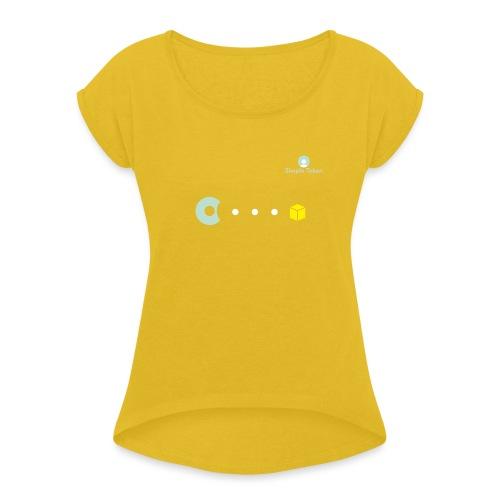 SimpleToken Pacman by Titus - Women's Roll Cuff T-Shirt