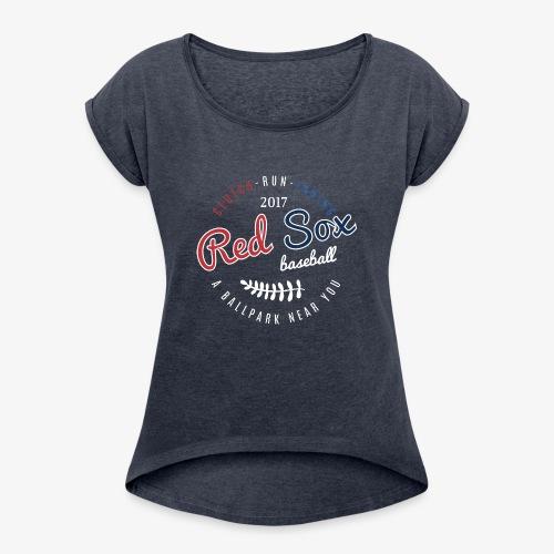 Clutch-Run-Inning Tee shirt - Women's Roll Cuff T-Shirt