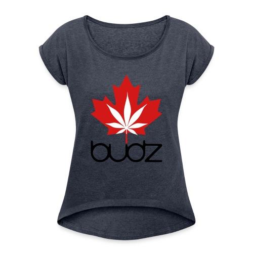 Gina_final - Women's Roll Cuff T-Shirt