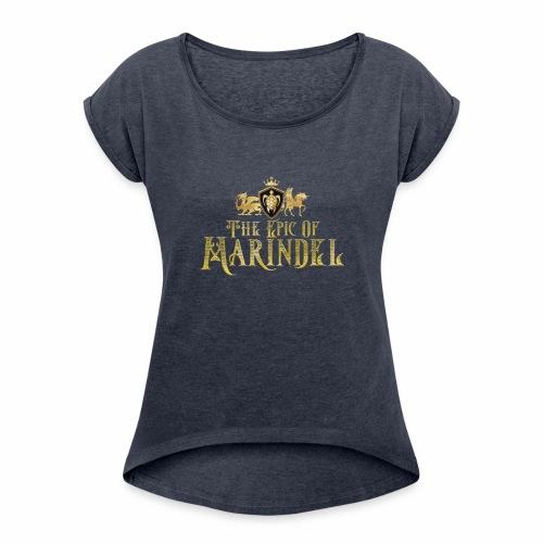 Marindel Logo - Women's Roll Cuff T-Shirt