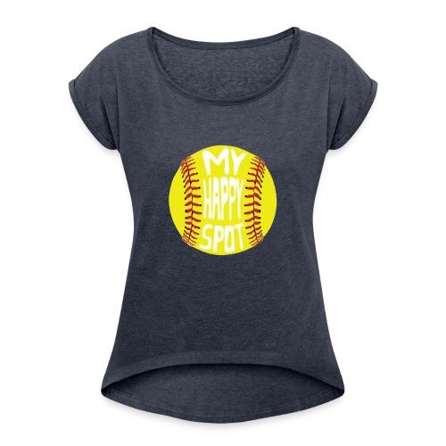 People s Republic of Burlington Softball - Women's Roll Cuff T-Shirt