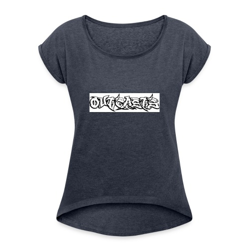 OG logo - Women's Roll Cuff T-Shirt