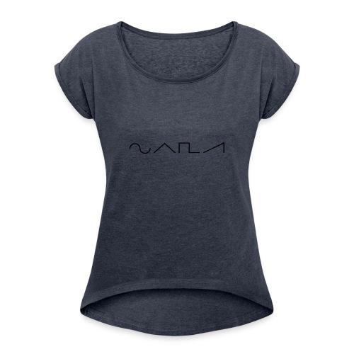 Waveforms_-1- - Women's Roll Cuff T-Shirt