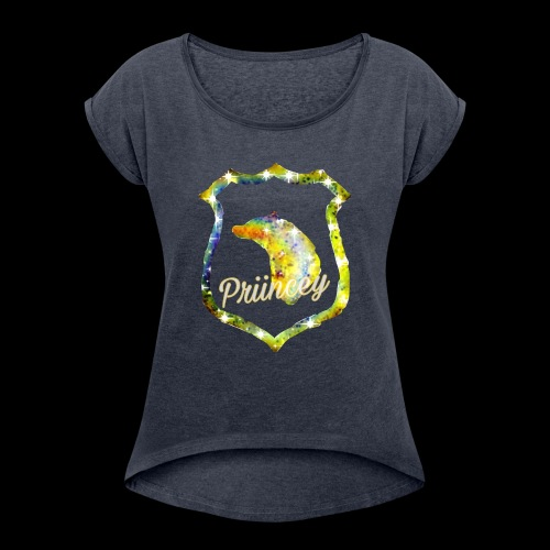 Priincey's HufflePuff house - Women's Roll Cuff T-Shirt