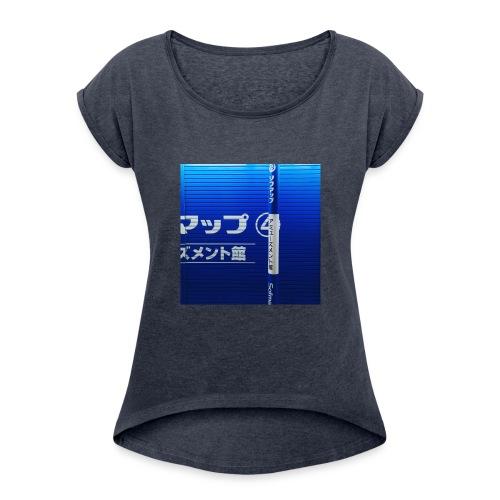 Blue Wave - Women's Roll Cuff T-Shirt