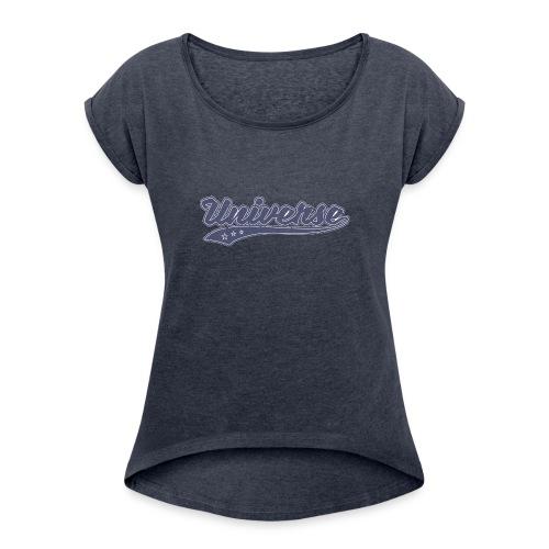 Universe (Retro Color) - Women's Roll Cuff T-Shirt
