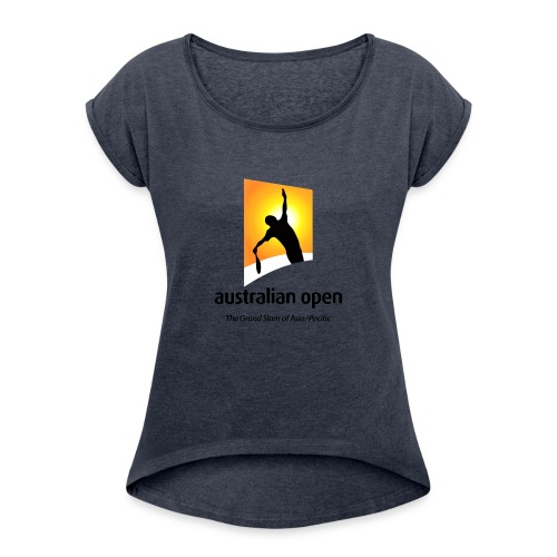 AUSTRALIA OPEN LOGO 2 - Women's Roll Cuff T-Shirt
