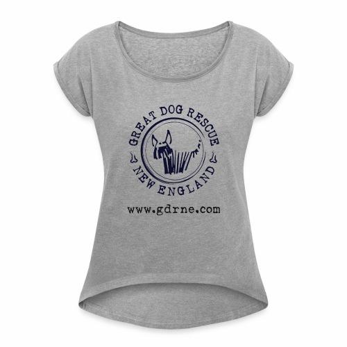 GDRNE Logo - Women's Roll Cuff T-Shirt