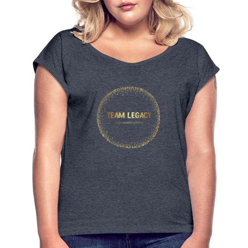 Color logo no background - Women's Roll Cuff T-Shirt