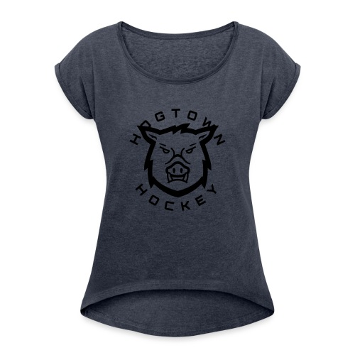 hog t - Women's Roll Cuff T-Shirt