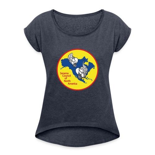 SCNA logo - Women's Roll Cuff T-Shirt