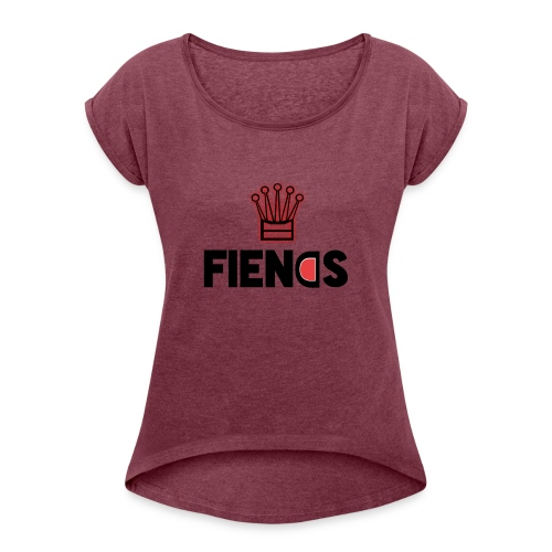 Fiends Design - Women's Roll Cuff T-Shirt