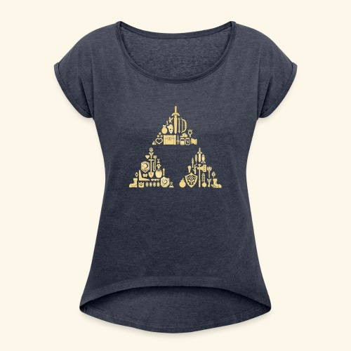 Zelda Triforce - Women's Roll Cuff T-Shirt