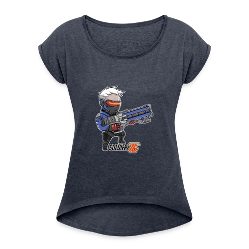 Soldier 76 - Women's Roll Cuff T-Shirt