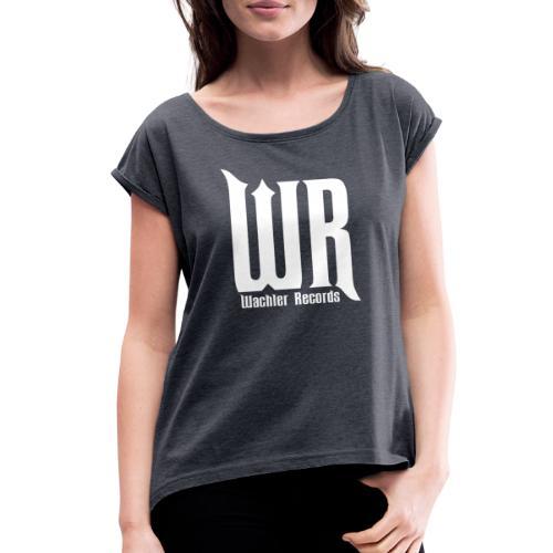 Wachler Records Light Logo - Women's Roll Cuff T-Shirt
