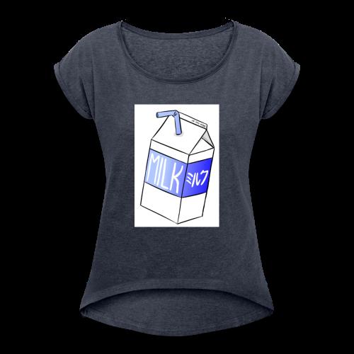 Box of milk - Women's Roll Cuff T-Shirt