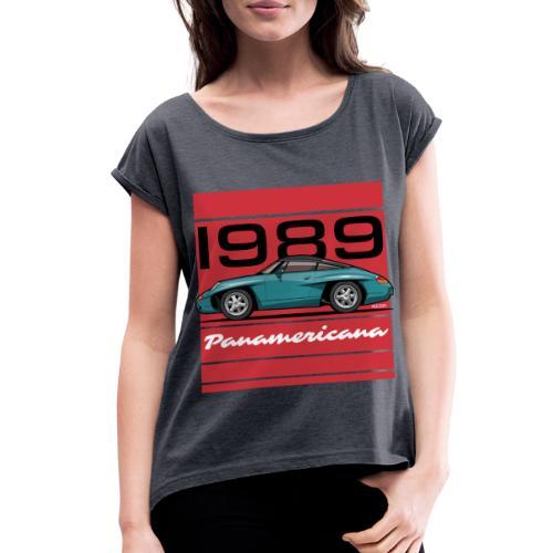 1989 P0r5che Panamericana Concept Car - Women's Roll Cuff T-Shirt