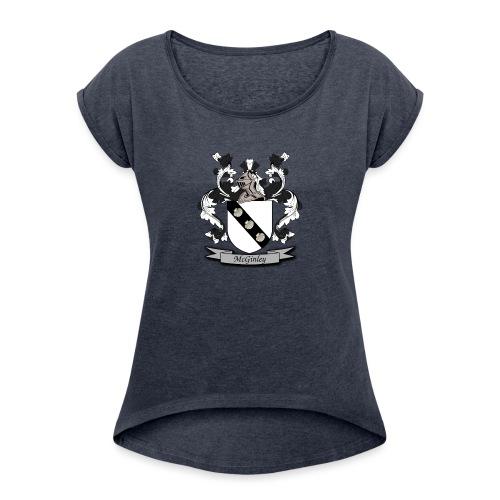 McGinley Family Crest - Women's Roll Cuff T-Shirt