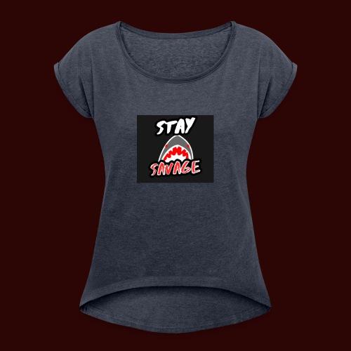AFBC021C 0CAA 4F66 BE84 004107144591 - Women's Roll Cuff T-Shirt