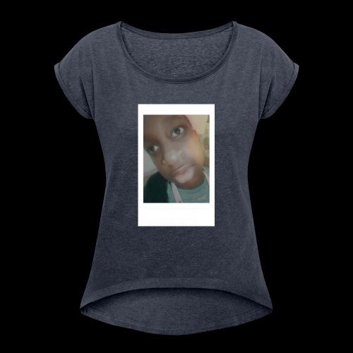 White Instant Photo - Women's Roll Cuff T-Shirt
