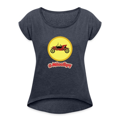 Mr. Toad Motorcar Explorer Badge - Women's Roll Cuff T-Shirt