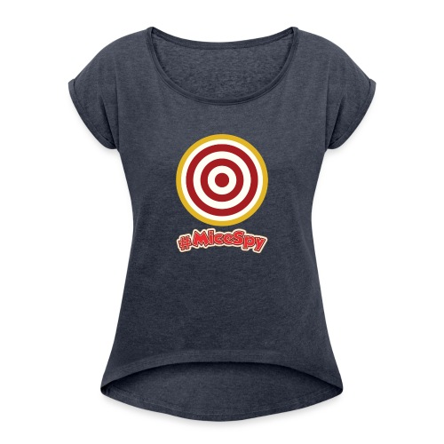 Shootin Gallery Explorer Badge - Women's Roll Cuff T-Shirt