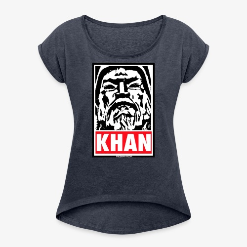 Obedient Khan - Women's Roll Cuff T-Shirt