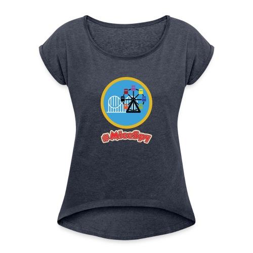 Paradise Pier Explorer Badge - Women's Roll Cuff T-Shirt