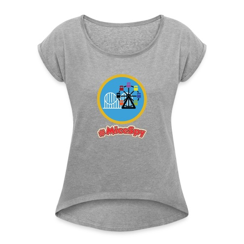 Paradise Pier Explorer Badge - Women's Roll Cuff T-Shirt