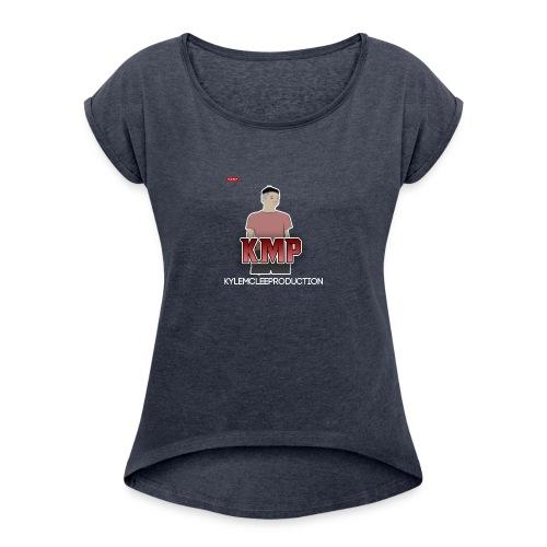 Merch with KylemcleePRODUCTION! - Women's Roll Cuff T-Shirt