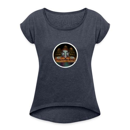 Troll House Games Logo - Women's Roll Cuff T-Shirt