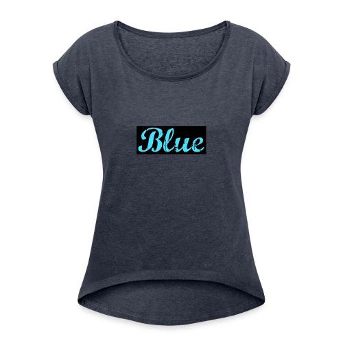 Blue - Women's Roll Cuff T-Shirt