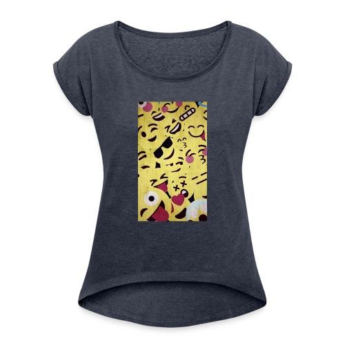 gumball design - Women's Roll Cuff T-Shirt