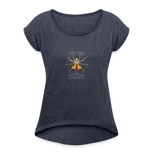 Vitruvian Omnic - Women's Roll Cuff T-Shirt
