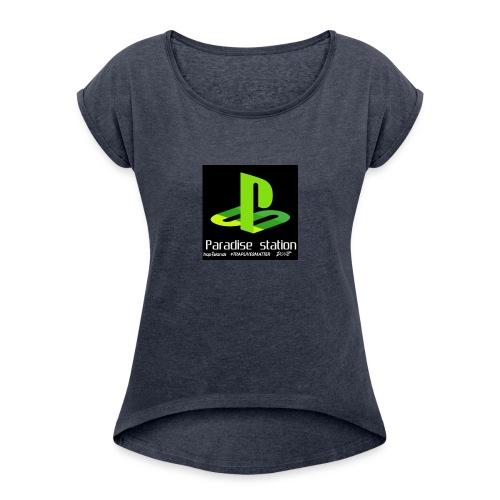 Paradise green - Women's Roll Cuff T-Shirt