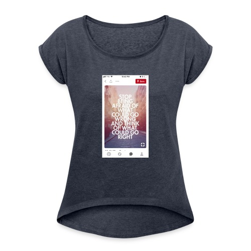 632FC330 0635 4343 B595 FF9958561445 - Women's Roll Cuff T-Shirt