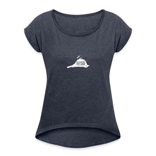 Bluebird Logo - Women's Roll Cuff T-Shirt