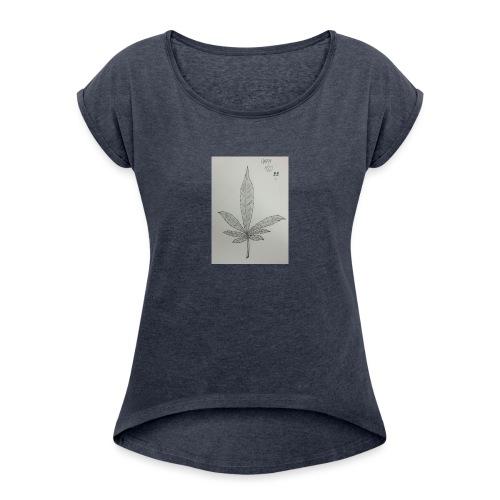 Happy 420 - Women's Roll Cuff T-Shirt
