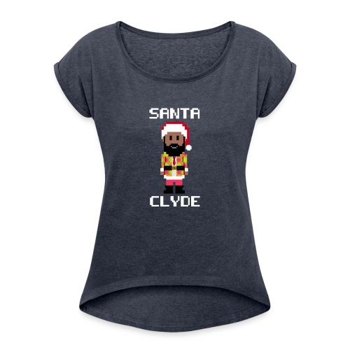 Santa Clyde So Fly (8-Bit) - Women's Roll Cuff T-Shirt