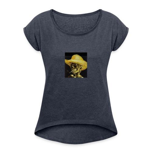 smoking dead - Women's Roll Cuff T-Shirt