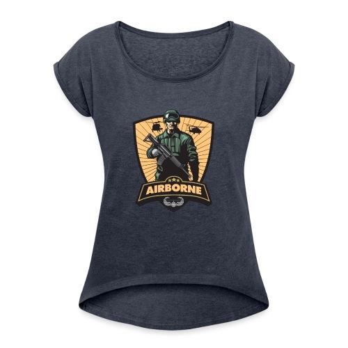 Air Assault Trooper - Women's Roll Cuff T-Shirt