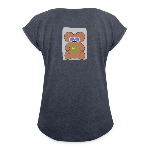 Aussie Dad Gaming Koala - Women's Roll Cuff T-Shirt