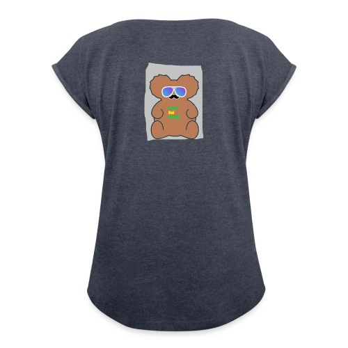 Aussie Dad Gaming Koala - Women's Roll Cuff T-Shirt