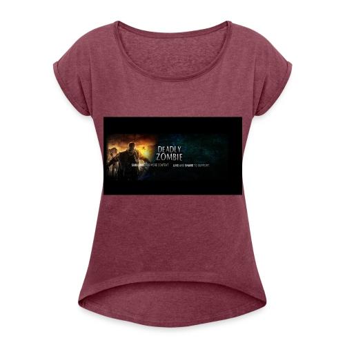 Deadly_Zombies_-1- - Women's Roll Cuff T-Shirt